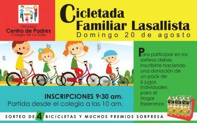 Este Domingo 20 es la Cicletada Familiar Lasallista